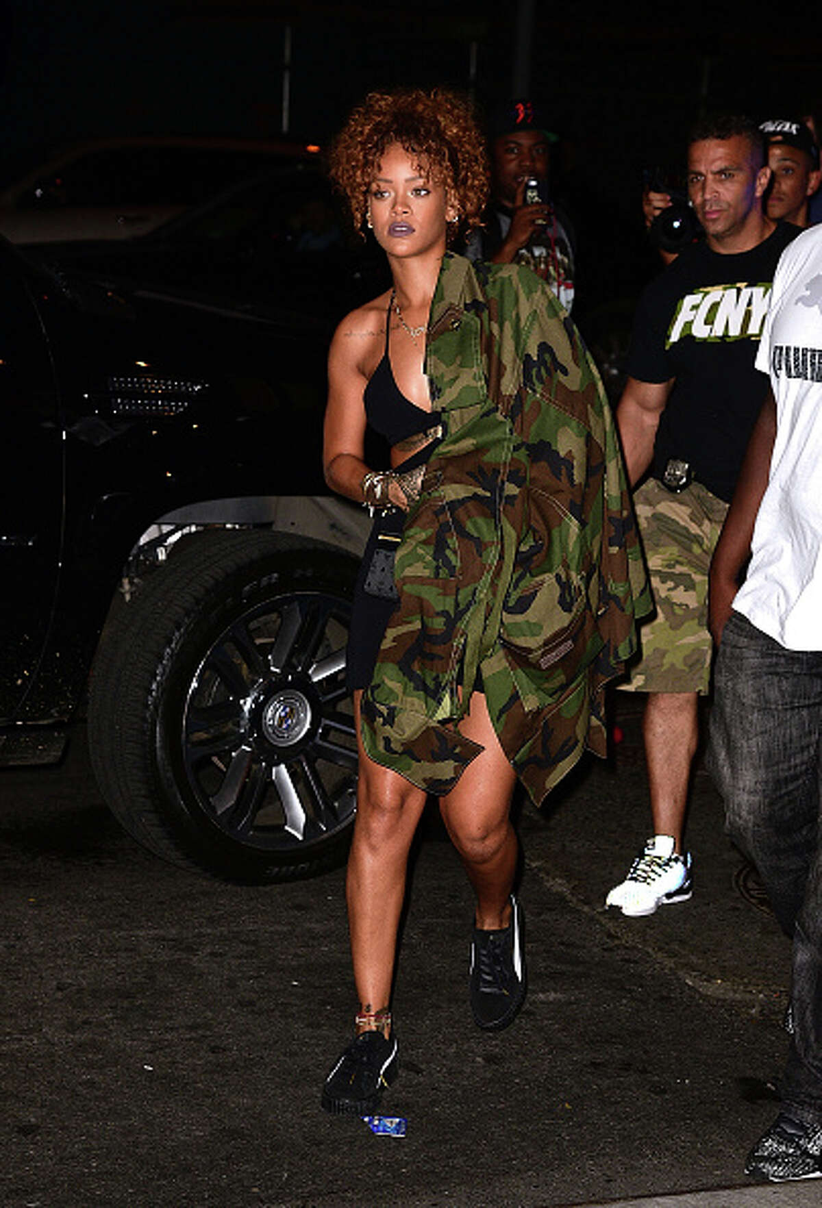 NEW YORK, NY - SEPTEMBER 09: Rihanna attends Travis Scott concert at Gramercy Theatre on September 9, 2015 in New York City. (Photo by James Devaney/GC Images)