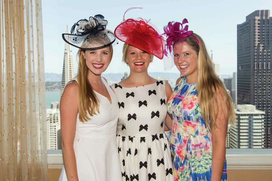 Courtney Costello, Laura Davis and Eve Denton at the Spinsters of San Francisco New Member Tea on August 30, 2015. Photo: Drew Altizer Photography / © 2015 Drew Altizer Photography