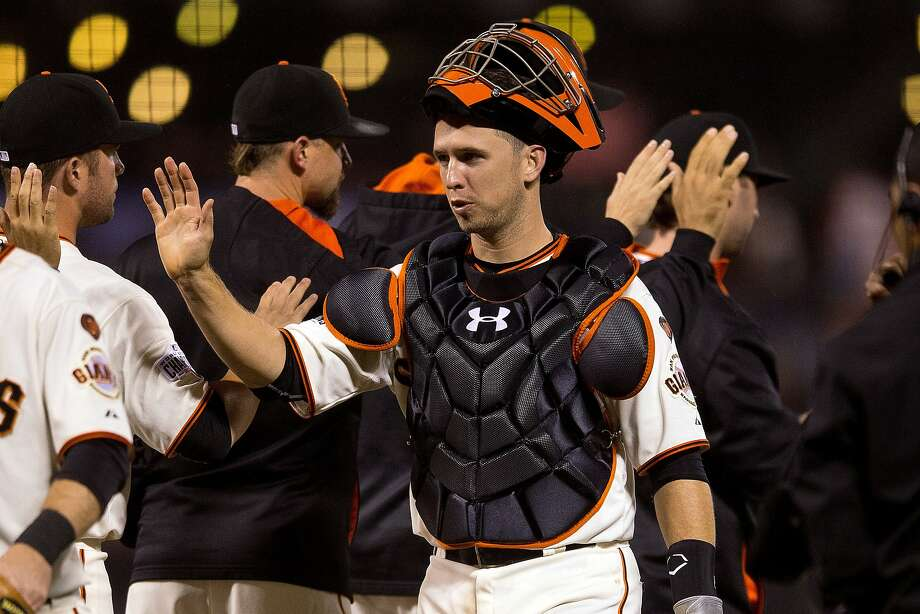 Buster Posey was one of more than 1,800 East Bay customers who went over his water allowance during the recent billing cycle.  Photo: Jason O. Watson, Getty Images