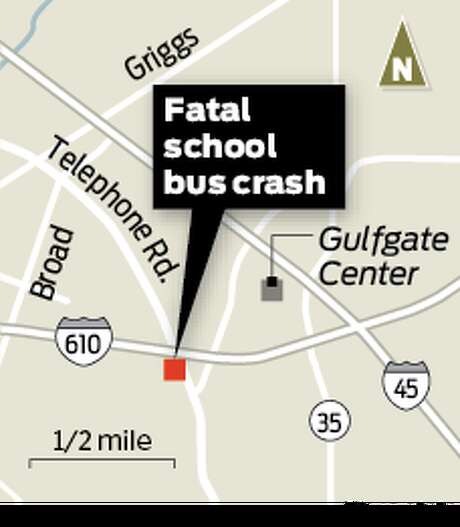 Spotter for fatal school bus crash: South Loop 610 at Telephone Road