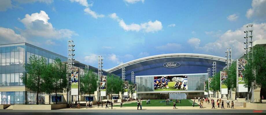 Rendering of the new facility that will be used by the Dallas Cowboys and the city of Frisco. Photo: Gensler Texas