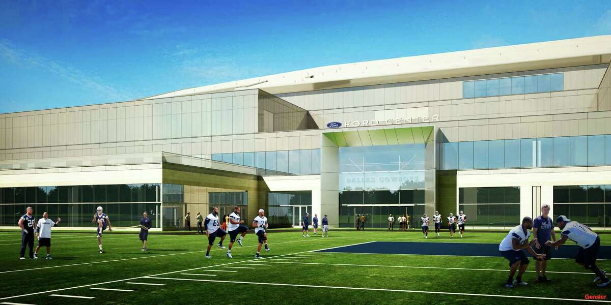 Rendering of the new facility that will be used by the Dallas Cowboys and the city of Frisco.