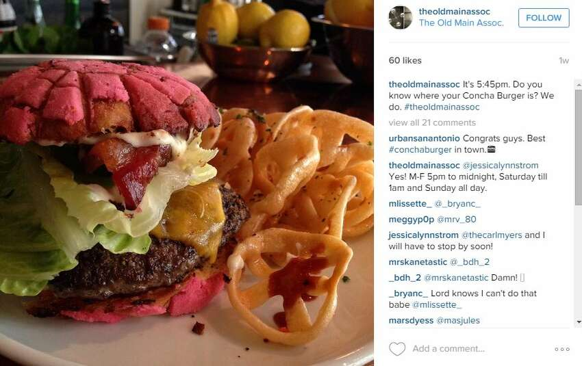 3. A concha burger This one is new to us San Antonians, too. Some locals may be trying the pan dulce burger for the first time right along with you.