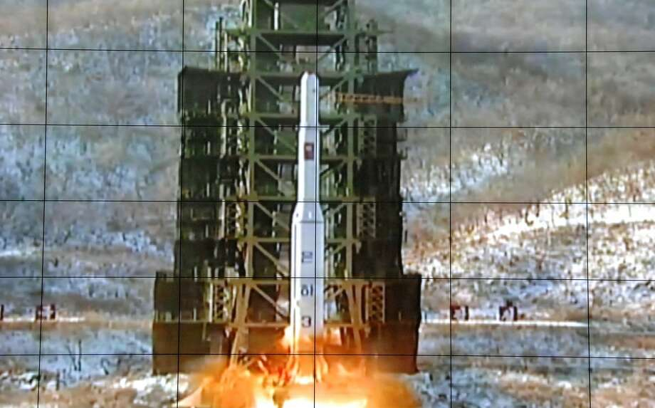 North Korea has conducted a series of long-range rocket launches like this one — the Unha-3 in 2012. Photo: Associated Press