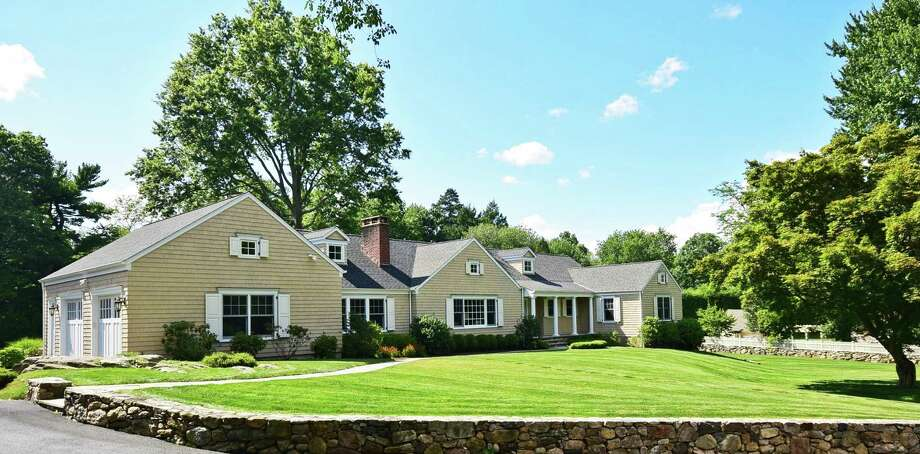 This expanded Cape on Old Parish Road in Darien was renovated in 2009. Photo: Contributed / Contributed Photo / Darien News