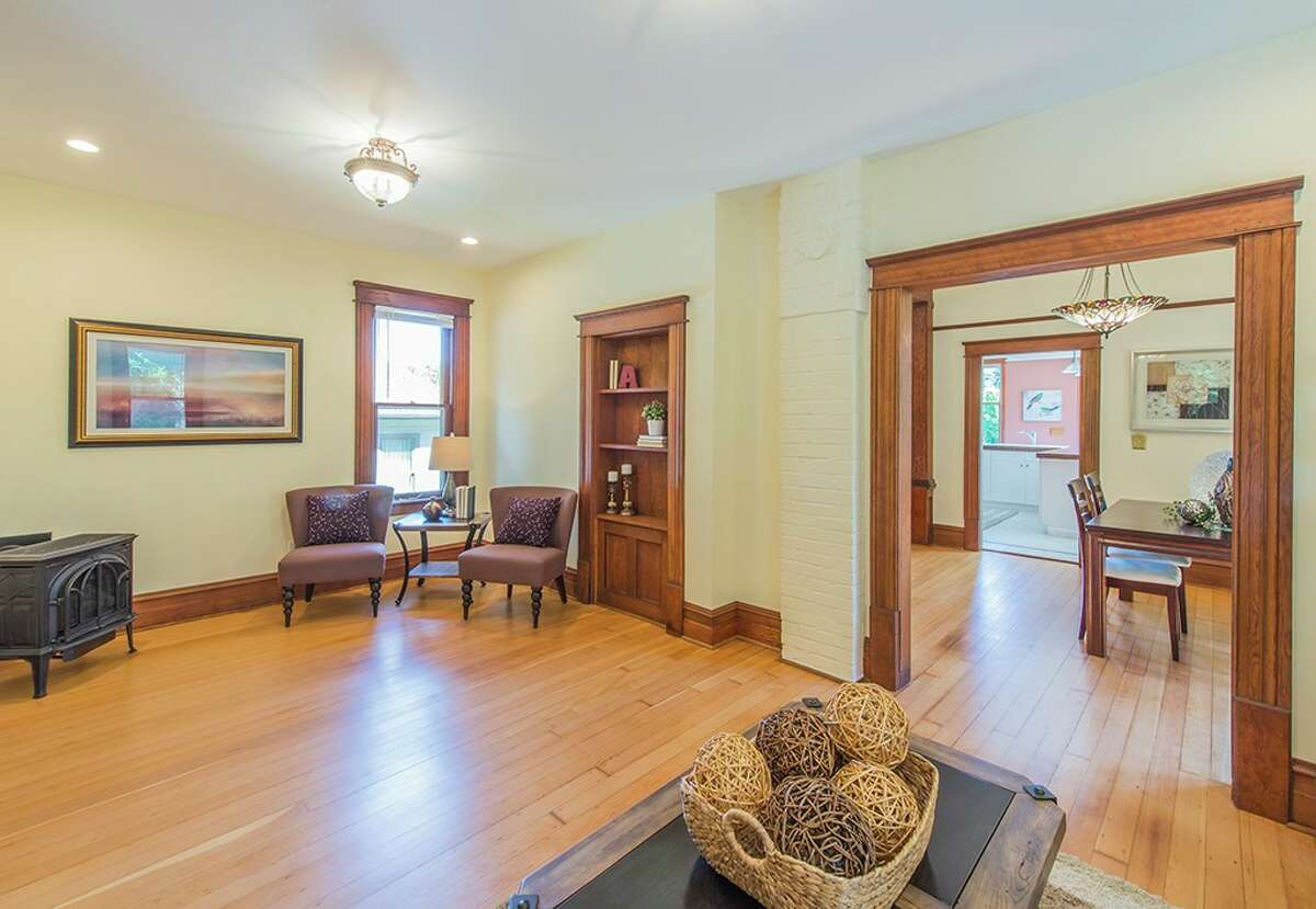 Living room at 3836 36th Ave. W. in Magnolia. The four-bedroom, 2.5-bathroom home is listed at $880,000.