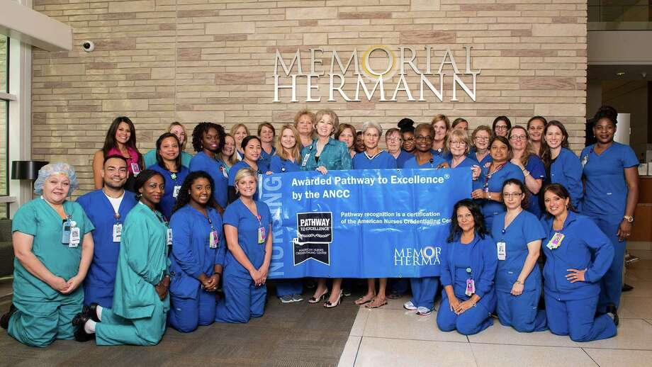 Memorial Hermann Katy Hospital's nursing staff was again awarded the Pathway to Excellence designation from the American Nurses Credentialing Center.  Photo: Memorial Hermann Katy Hospital / SJOCONNOR 2014