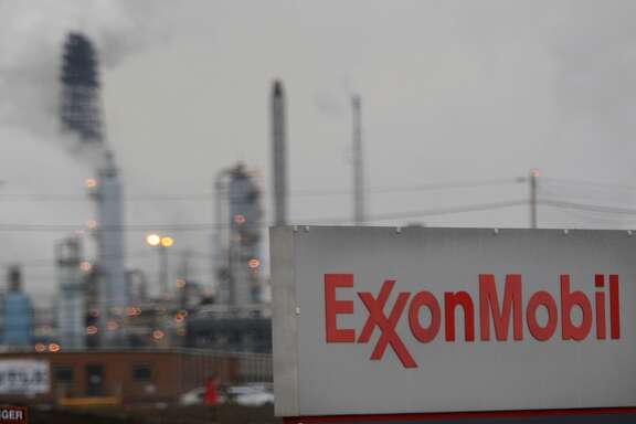 Exxon Mobil fined for pollution from two refineries     The biggest U.S. oil company paid $570 million in 2005 to improve its refineries across the U.S. and stop them from spewing harmful emissions. In 2008, the EPA levied addition fines against the company after it found that Exxon had failed to monitor the sulfur being emitted from its Baytown and Torrance, California plants.
