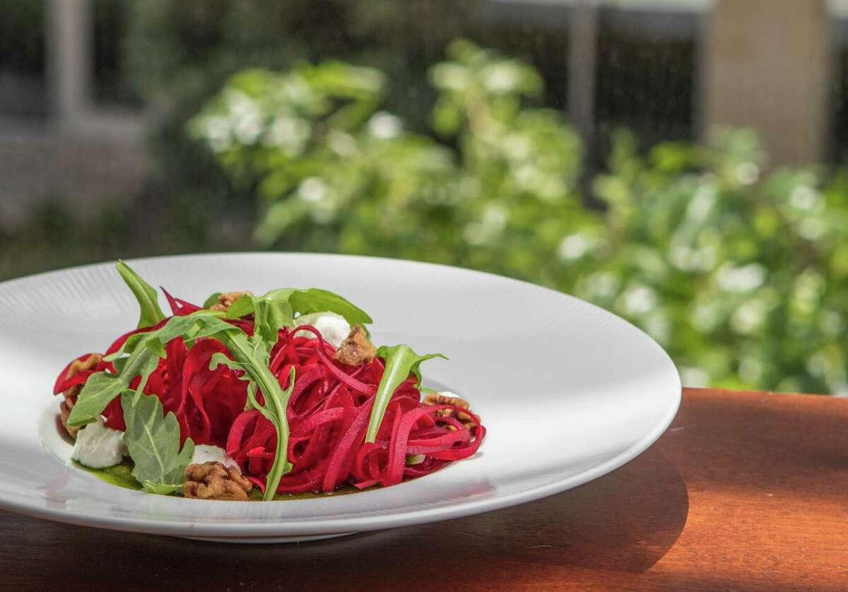 Salad of beet ribbons at Radio Milano