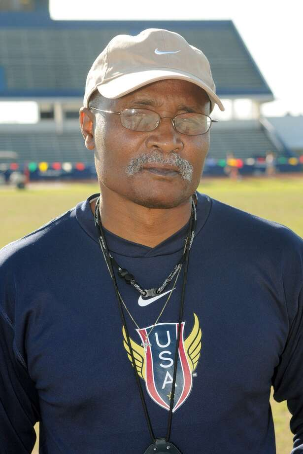 Houston Booker T Washington Head Boys Track Coach Russell Austin Photo: Jerry Baker, Freelance