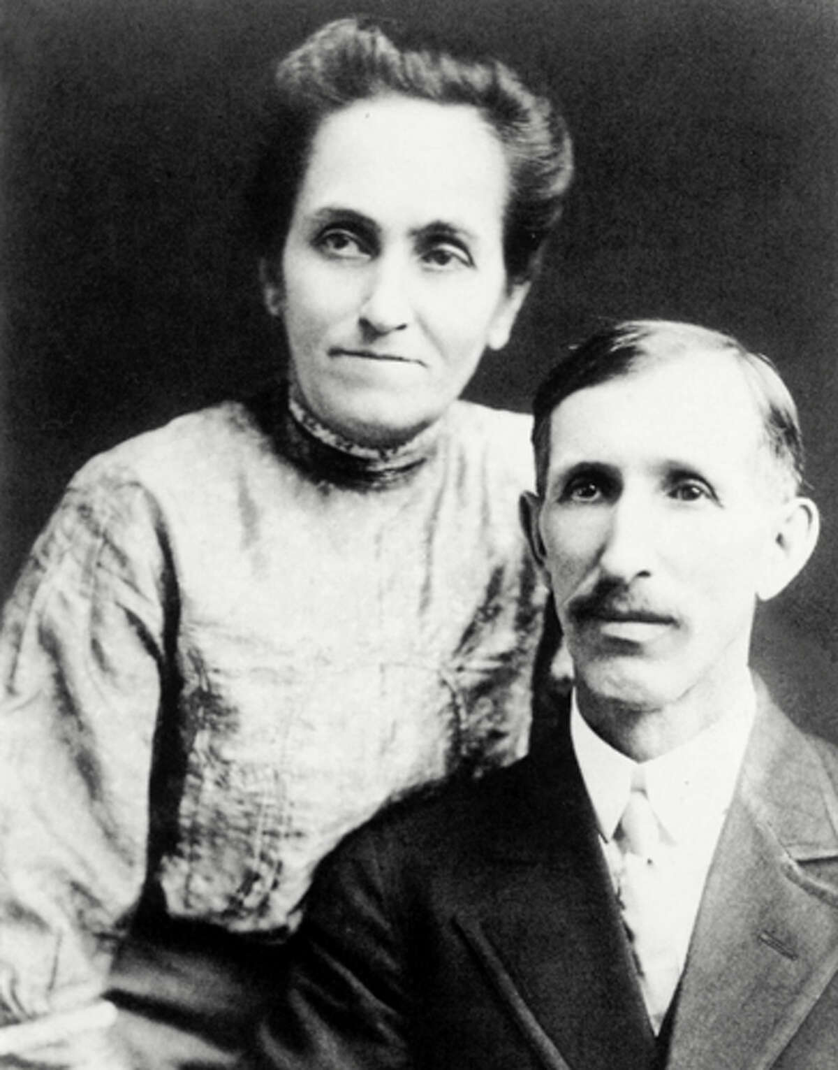 Disney is actually Latino Myth: The idea was floated in previous books that Disney's mom may have been Consuela Suarez of Spain. But there's no proof to disclaim the fact that Flora and Elias Disney (pictured here in 1890) were his actual parents.