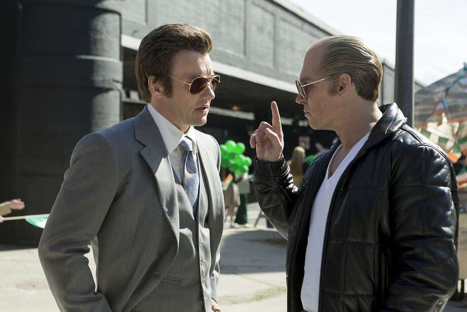 "Johnny Depp (right) stars as Whitey Bulger in the Boston-set ""Black Mass,"" with Joel Edgerton as FBI agent John Connolly. Photo: Claire Folger, Associated Press"