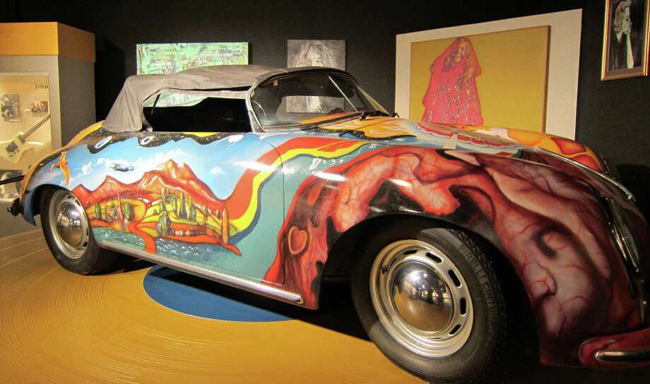 A replica of Janis Joplin's 1965 Porsche Cabriolet on display at the Museum of the Gulf Coast in Port Arthur.   Syd Kearney/Houston Chronicle Photo: Syd Kearney, HC Staff / Houston Chronicle