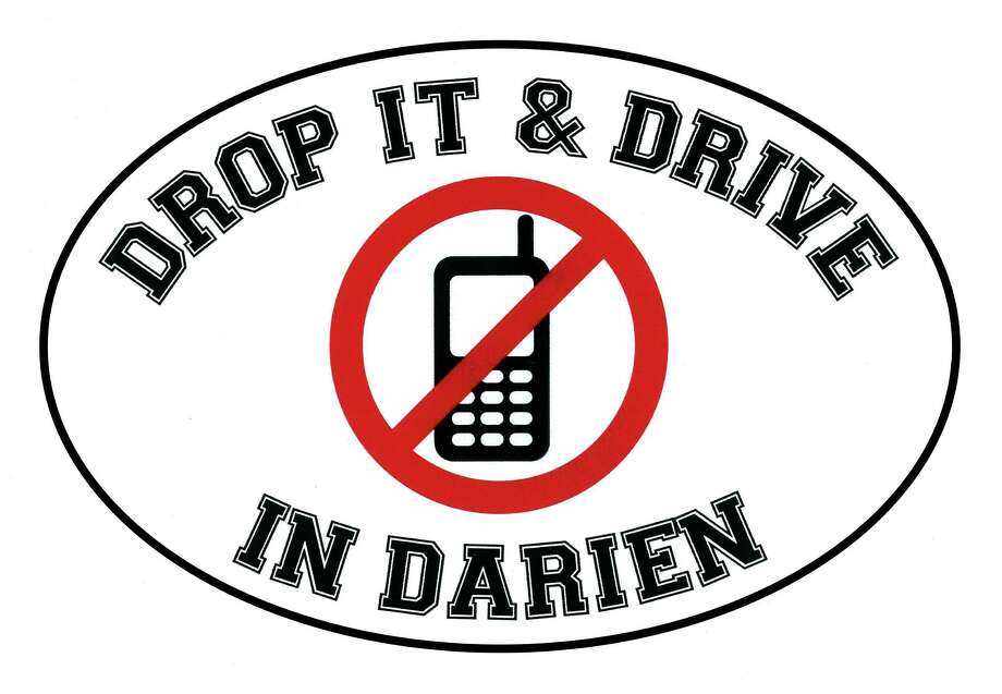 "Whitney Ball, a town native has launched the ""Drop It and Drive in Darien"" campaign to discourage motorists from texting and driving. Photo: Contributed Photo / Darien News"