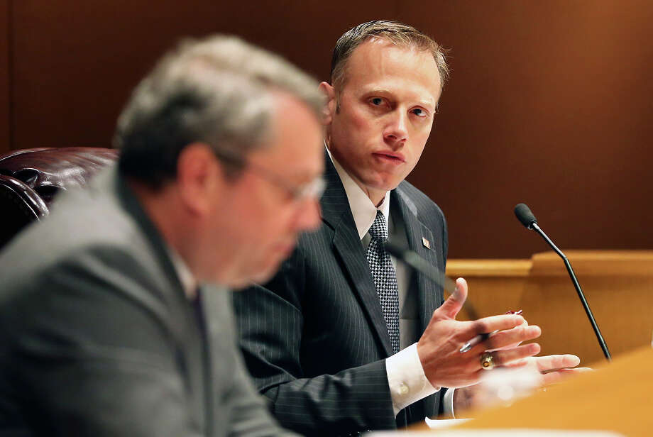 Railroad Commissioner Ryan Sitton, who lost his bid for re-election in the GOP primary, is now a central figure in the global battle over oil production cuts. Photo: Tom Reel /San Antonio Express-News