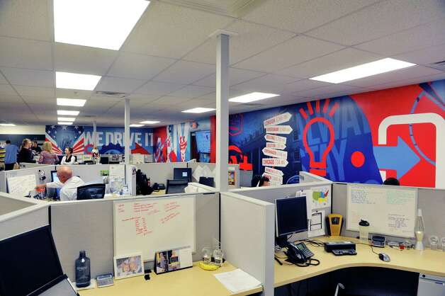 Employees in the U.S. sales department work in the new expanded office space at Autotask on Monday, Sept. 15, 2015, in East Greenbush, N.Y.  Autotask held an event Tuesday to show off their new expansion. (Paul Buckowski / Times Union) Photo: PAUL BUCKOWSKI / 00033367A