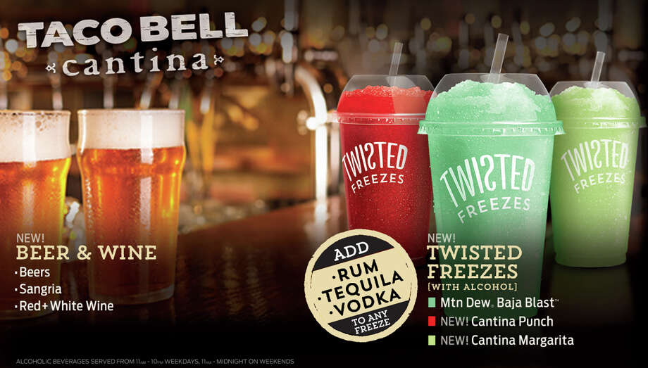 This image provided by Taco Bell shows some of the beverages the chain will soon be offering at a Chicago store. Photo: HONS / Taco Bell