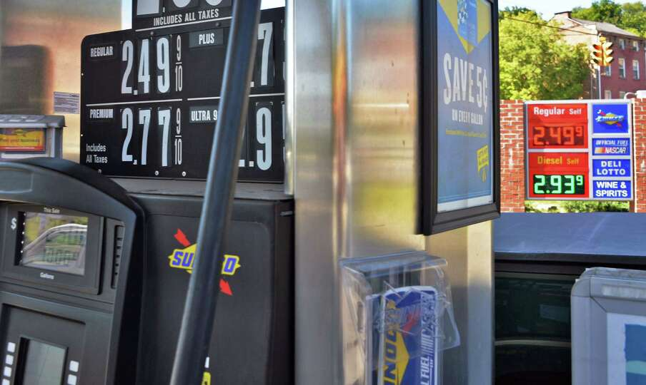 Gasoline Prices At The Pumps At The Broadway Sunoco Station Tuesday Sept 15 2015 In Albany Ny Th