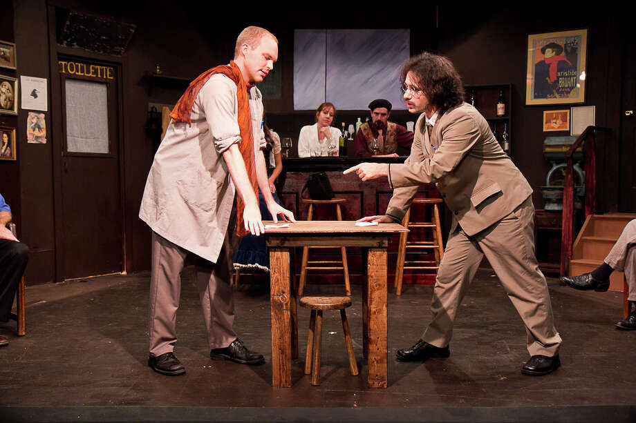 "Town Players presented ""Picasso at the Lapin Agile"" in 2011. The play was written by Steve Martin and features the characters of Albert Einstein and Pablo Picasso, who meet at a bar called the Lapin Agile in Montmartre, Paris. Photo: Richard Pettibone /Contributed Photo"
