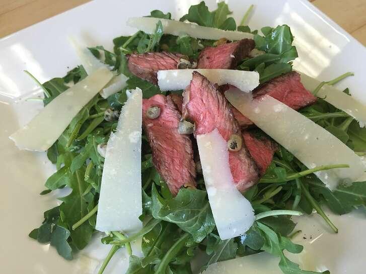 Steak and Arugula Salad with Crispy Capers