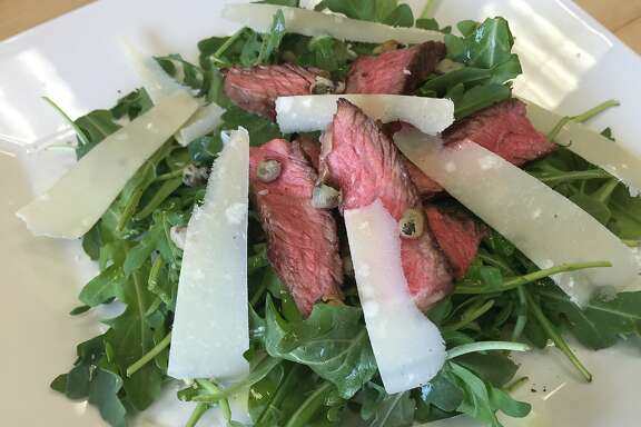 Steak and Arugula Salad with Crispy Capers