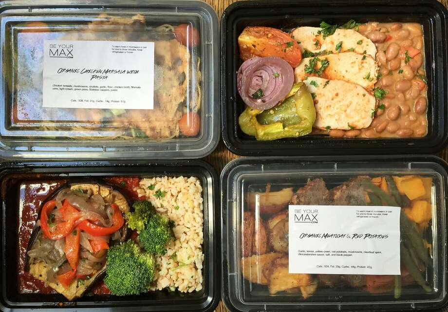 Four meals from Be Your Max, a weekly delivery service Photo: Amanda Gold