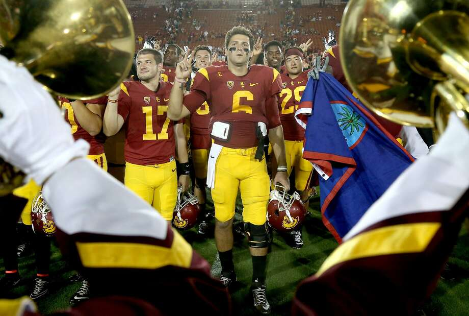 """USC quarterback Cody Kessler (6), a Heisman Trophy candidate, is among the challenges Stanford will face. """"It's a big game for our program,"""" Stanford counterpart Kevin Hogan said. Photo: Stephen Dunn, Getty Images"""