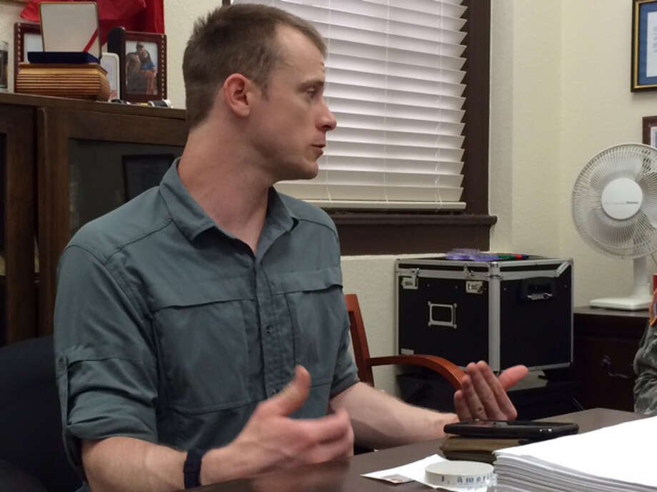 Sgt. Bowe Bergdahl prepares to be interviewed by Army investigators last year. His lawyers want contents of the interview released. Bergdahl was held captive for five years by the Taliban. An investigative hearing will be held Thursday. Photo: Eugene R. Fidell, HONS / AP