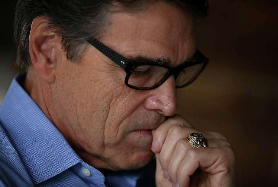 Former Texas governor Rick Perry suspended his second presidential campaign last week, citing his indictment and absence from the first GOP debate as blows to his campaign. Photo: Justin Sullivan, Staff / 2015 Getty Images