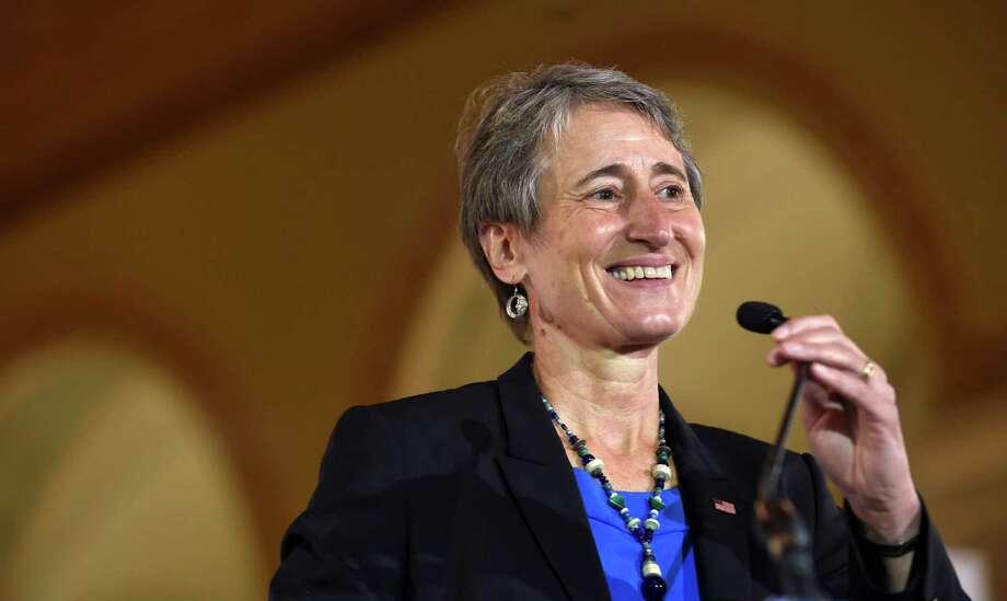 In a September  2014 file photo, Interior Secretary Sally Jewell speaks in Washington. (AP Photo/Susan Walsh, File) Photo: Susan Walsh, STF / AP