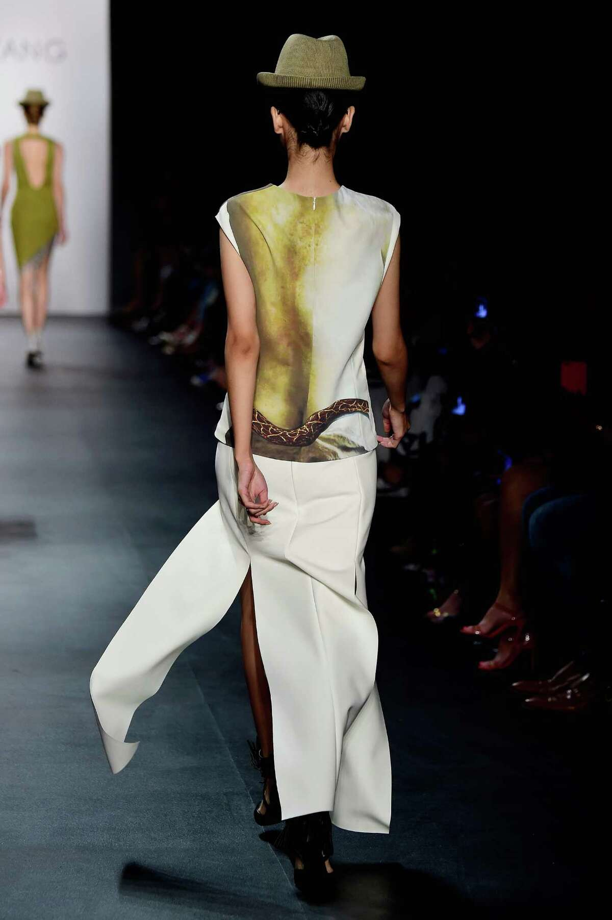 Models walk the runway wearing Taoray Wang Spring 2016 during New York Fashion Week: The Shows at The Dock, Skylight at Moynihan Station on September 14, 2015 in New York City.