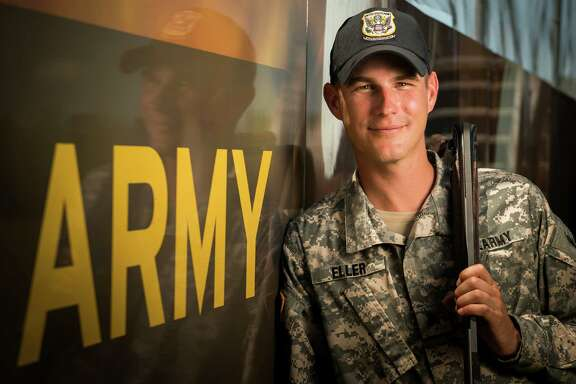 Sgt, Glenn Eller, the 2008 Olympic gold medalist in double trap shooting, is photographed at Fort Benning, Ga., home of the US Army Marksmanship Unit on Tuesday, July 10, 2012. Eller, from Katy, will be headed to his fourth Olympic games in London. ( Smiley N. Pool / Houston Chronicle)