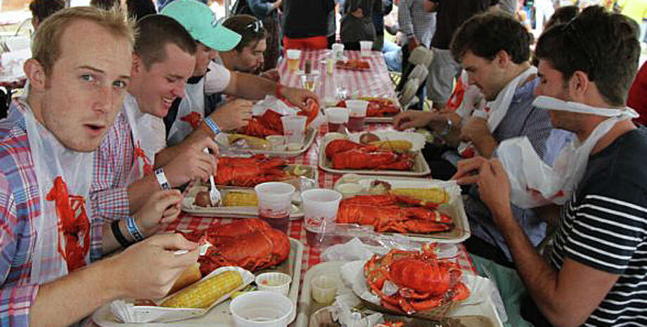 Lots of lobster -- or steak -- will be on offer at the Westport Rotary's LobsterFest on Saturday at Compo Beach. Photo: File Photo / File Photo / Westport News