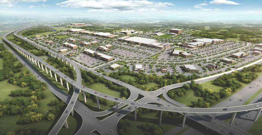 Construction is moving forward on the Valley Ranch Town Center, a new 240-acre retail and entertainment district located north of Kingwood in Porter. Photo: Courtesy