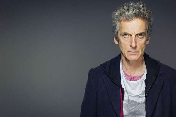 Actor Peter Capaldi plays the Doctor's current incarnation: cantankerous, big-hearted, goofy, well-meaning and sometimes mean.