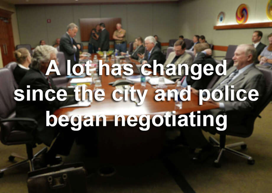 This is what has happened in the world since the city of San Antonio and SAPD began haggling over a new labor contract back in March 2014. Photo: Billy Calzada, San Antonio Express-News / San Antonio Express-News