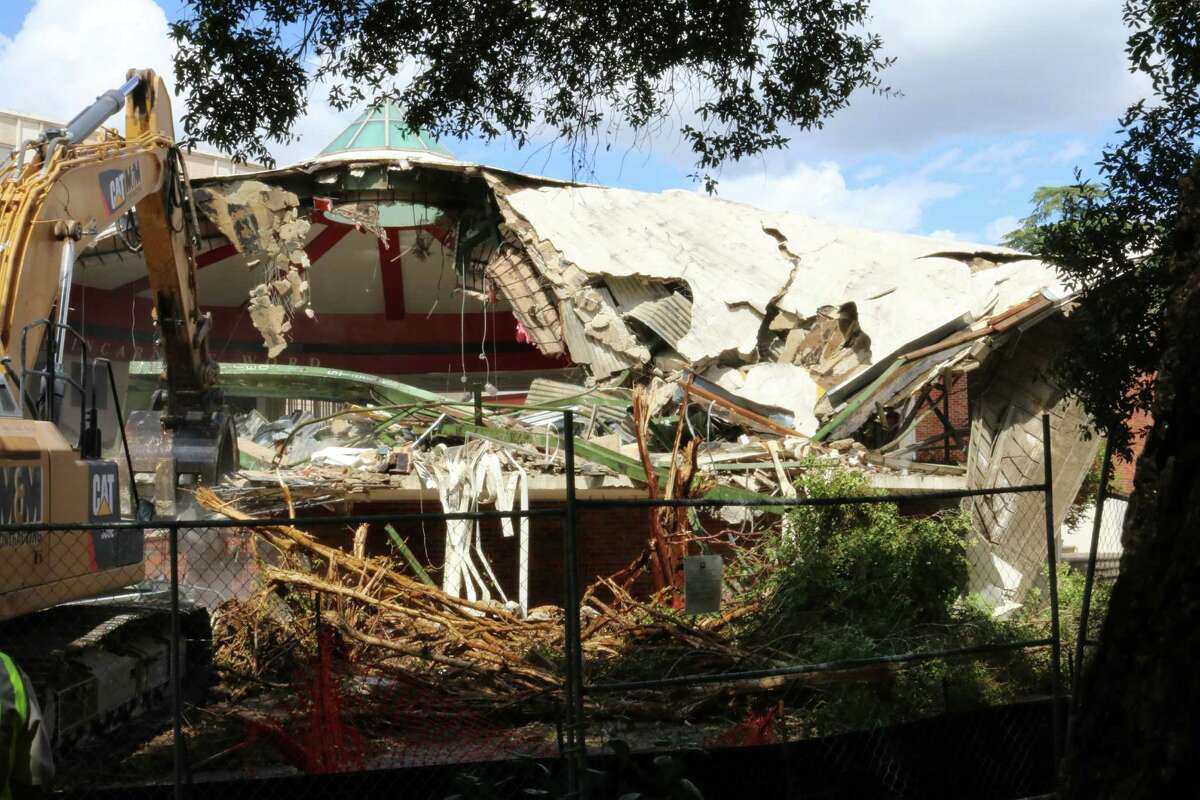 A cafeteria, student lounge, game room, ballroom, offices and dorms were demolished.