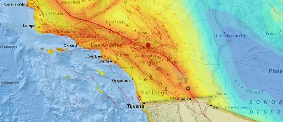 Earthquake and aftershocks hit Big Bear in Southern California Wednesday, September 16th, 2015 (USGS)
