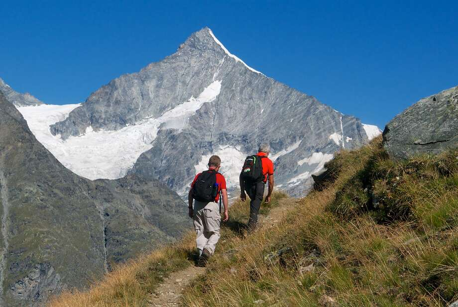 The hike to the Unterrothorn proves stirring views of other peaks in the region, such as the Weisshorn. Photo: John Flinn, Special To The Chronicle