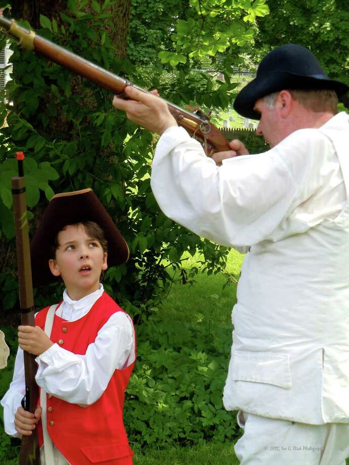 The Historical Society of Easton and Easton's Parks and Recreation Department will present a weekend of living history, Saturday, Sept. 19, and Sunday, Sept. 20, with the help of more than 125 reenactors from the 5th Connecticut Volunteer Regiment. Here, a young volunteer with the regiment learns the drills. Photo: Contributed Photo / Stamford Advocate Contributed