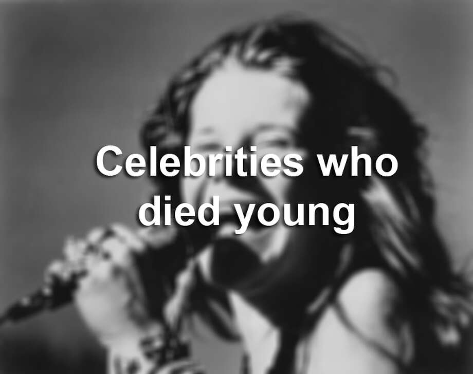Click through the gallery to see rock stars, actors and other celebrities who died young.