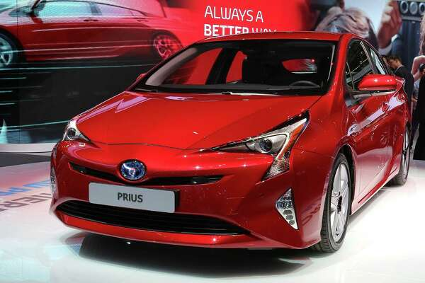 FRANKFURT AM MAIN, GERMANY - SEPTEMBER 16:  The new Toyota Prius stands at the Toyota stand at the 2015 IAA Frankfurt Auto Show during a press day on September 16, 2015 in Frankfurt, Germany. The IAA, Germany's biggest auto show, which takes place every two years, will be open to the public from September 17 through 27.