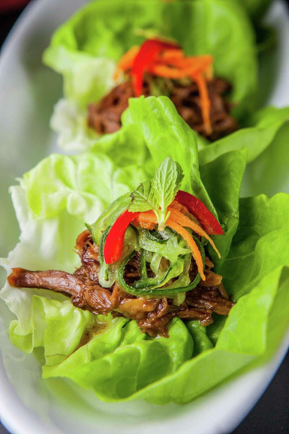 Turkey neck lettuce wraps at Kitchen 713..
