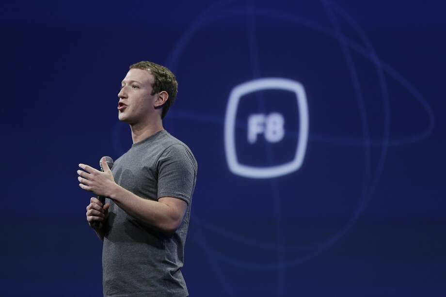 CEO Mark Zuckerberg delivers the keynote address at the Facebook F8 Developer Conference in March. Photo: Eric Risberg, Associated Press