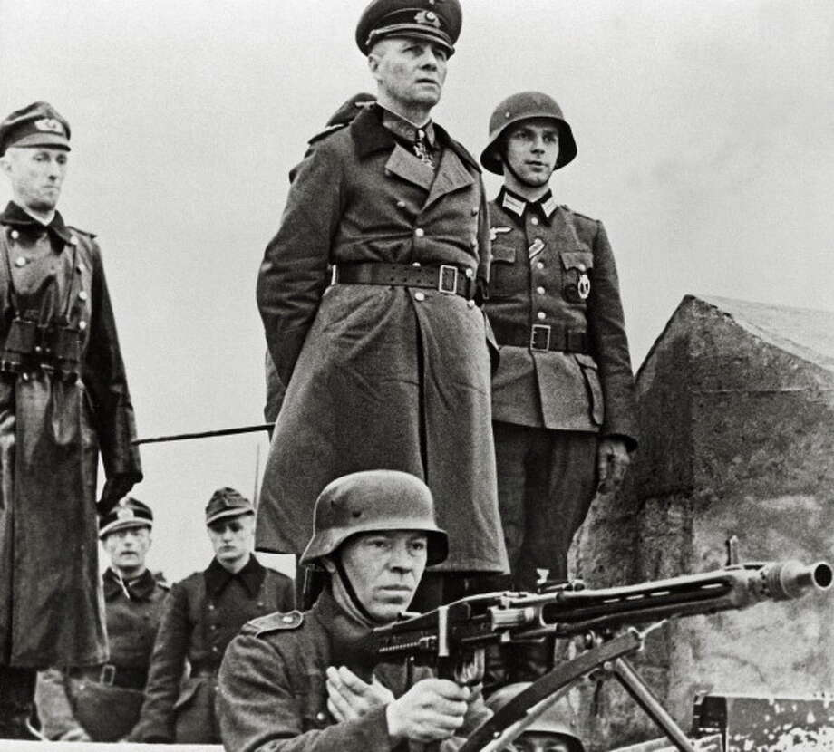 General Erwin Rommel inspects coastal defenses in 1944. According to a new book, Rommel was one of the German soldiers who relied on a meth-like drug called Pervitin. Photo: Galerie Bilderwelt/Getty Images) / 2014 Galerie Bilderwelt