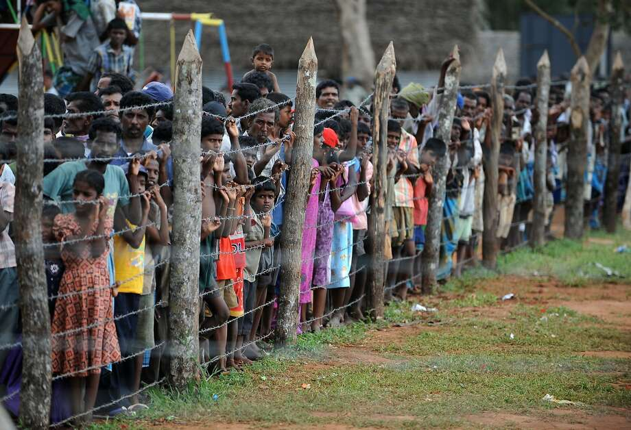 Thousands of Tamil civilians were displaced during the 26-year civil war, which ended in 2009 with tens of thousands dead. A long-awaited U.N. report details horrific abuses committed during the conflict. Photo: Pedro Ugarte, AFP / Getty Images
