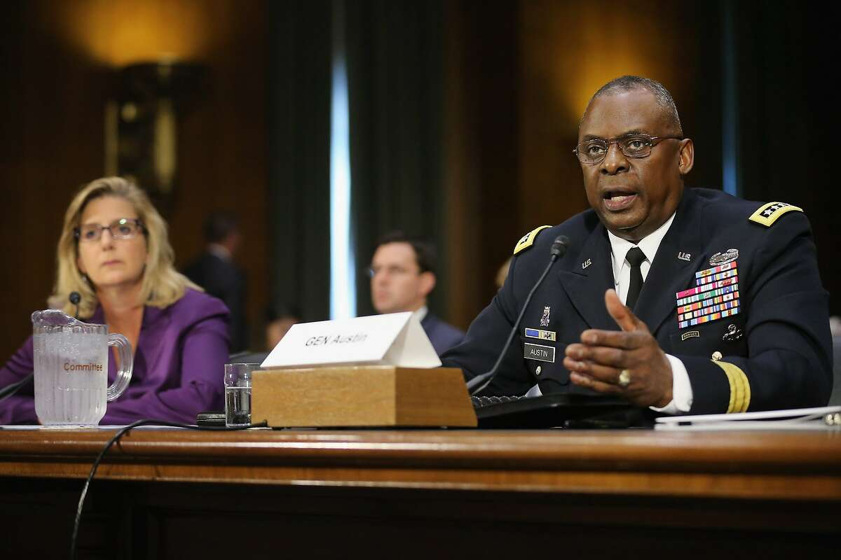 WASHINGTON, DC - SEPTEMBER 16: Gen. Lloyd Austin III (R), commander of U.S. Central Command, and Under Secretary of Defense for Policy Christine Wormuth testify before the Senate Armed Services Committee about the ongoing U.S. military operations to counter the Islamic State in Iraq and the Levant (ISIL) during a hearing in the Dirksen Senate Office Building on Capitol Hill September 16, 2015 in Washington, DC. Austin said that slow progress was still being made against ISIL but there have been setbacks, including the ambush of U.S.-trained fighters in Syria and the buildup of Russian forces in the country.