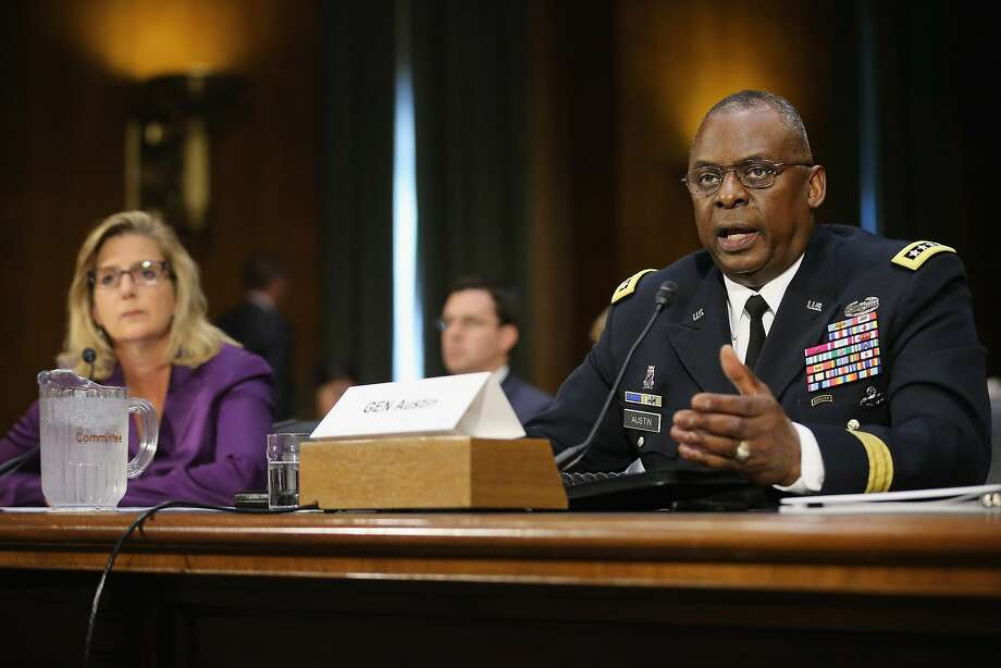 Gen. Lloyd Austin, commander of U.S. Central Command, testifies before the Senate Armed Services Committee about the ongoing U.S. military operations to counter the Islamic State in Iraq and Syria. Photo: Chip Somodevilla, Getty Images