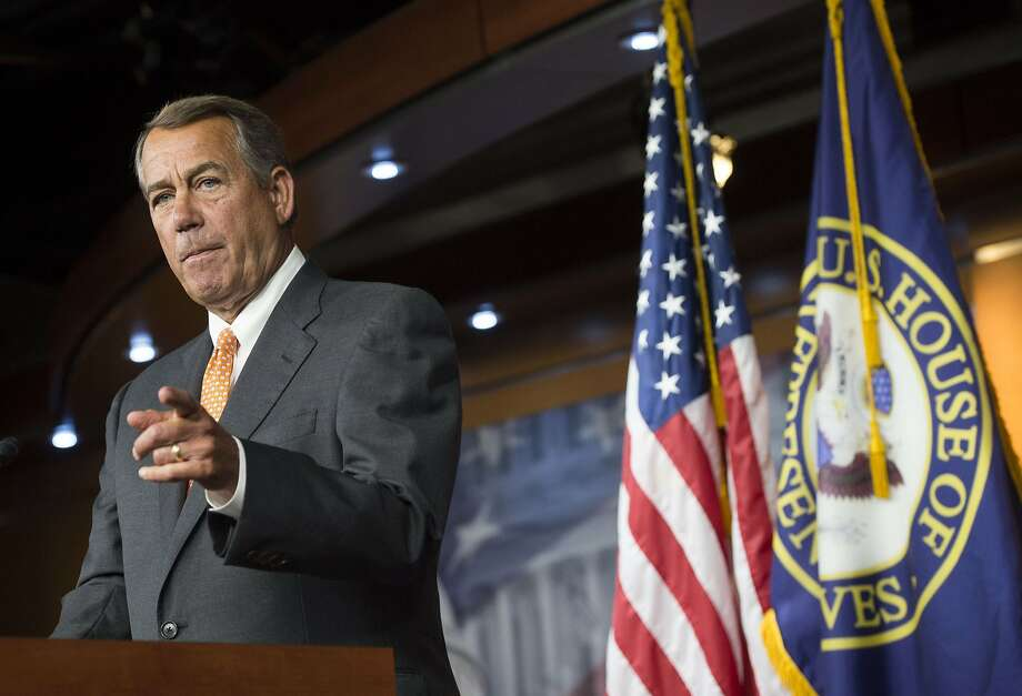 Speaker of the House John Boehner speaks during a press conference on Capitol Hill in Washington, D.C. Photo: Saul Loeb, AFP / Getty Images