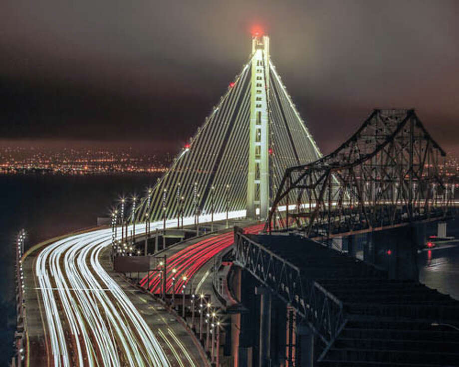 A tale of two bridges (the new and old spans of the Bay Bridge). Photo:Kevin Schofield of SchofieldImages Photo: Kevin Schofield Of SchofieldImages